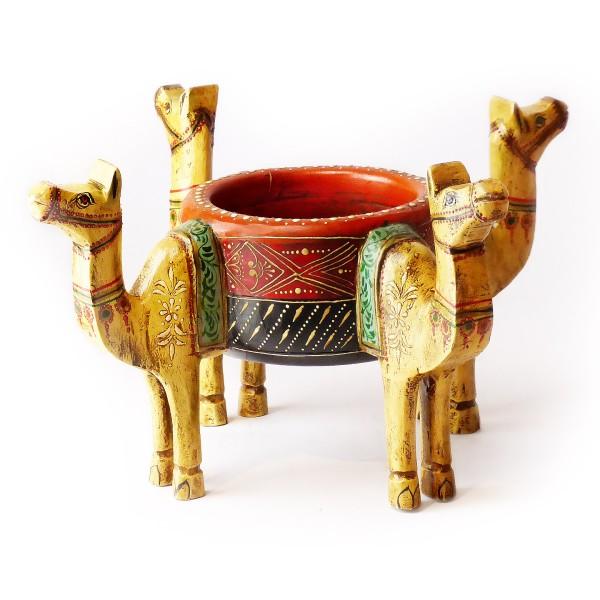 "Dekoschale ""Kamel"", Holz, Beige"